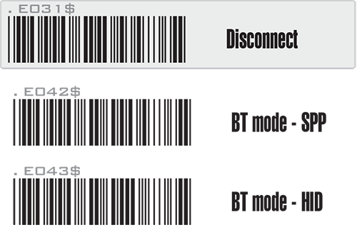 Bluetooth barcode setting