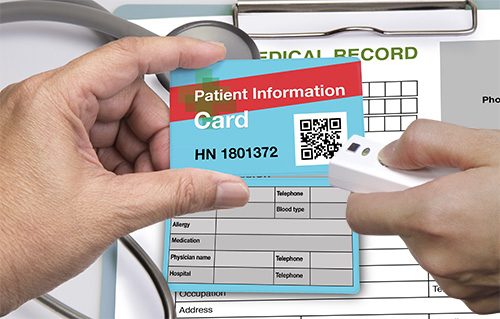2D wireless barcode scanner for healthcare management